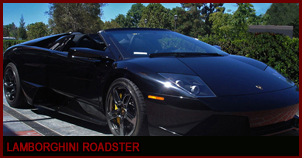 Lamborghini Murcielago RoadsterConvertible Black on Black with Custom sounds, power locks, power windows and automatic transmission.