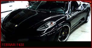 Ferrari 430: Fully Loaded, Custom 20 wheels with matching black and yellow calipers, Custom sound system with Ipod hook up.