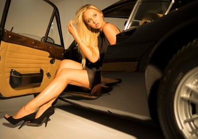 Presenting Our May Calendar Girl Amalie Wichmann, in a 1972 Ferrari Dino 246GT