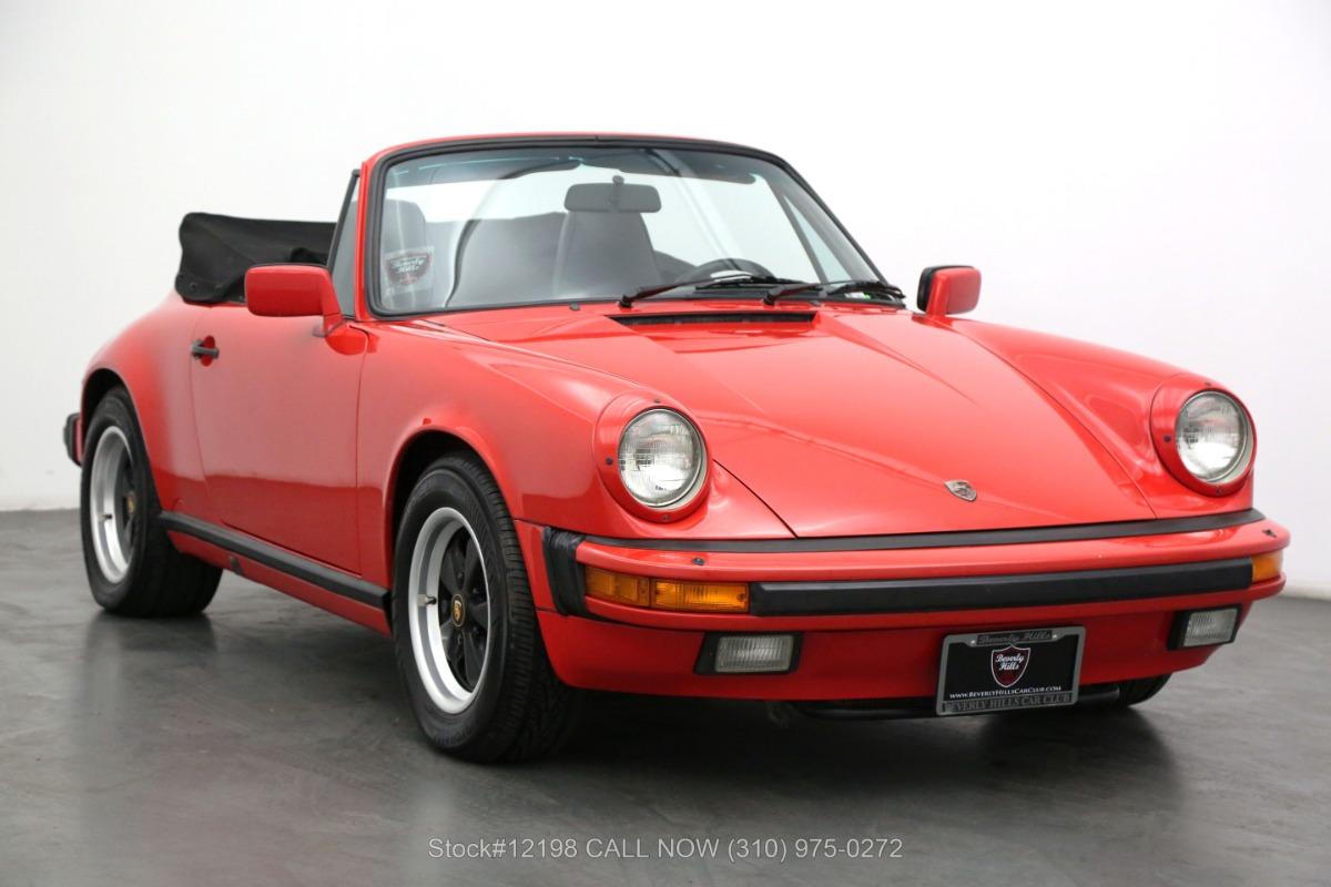 1986 Porsche Carrera Cabriolet