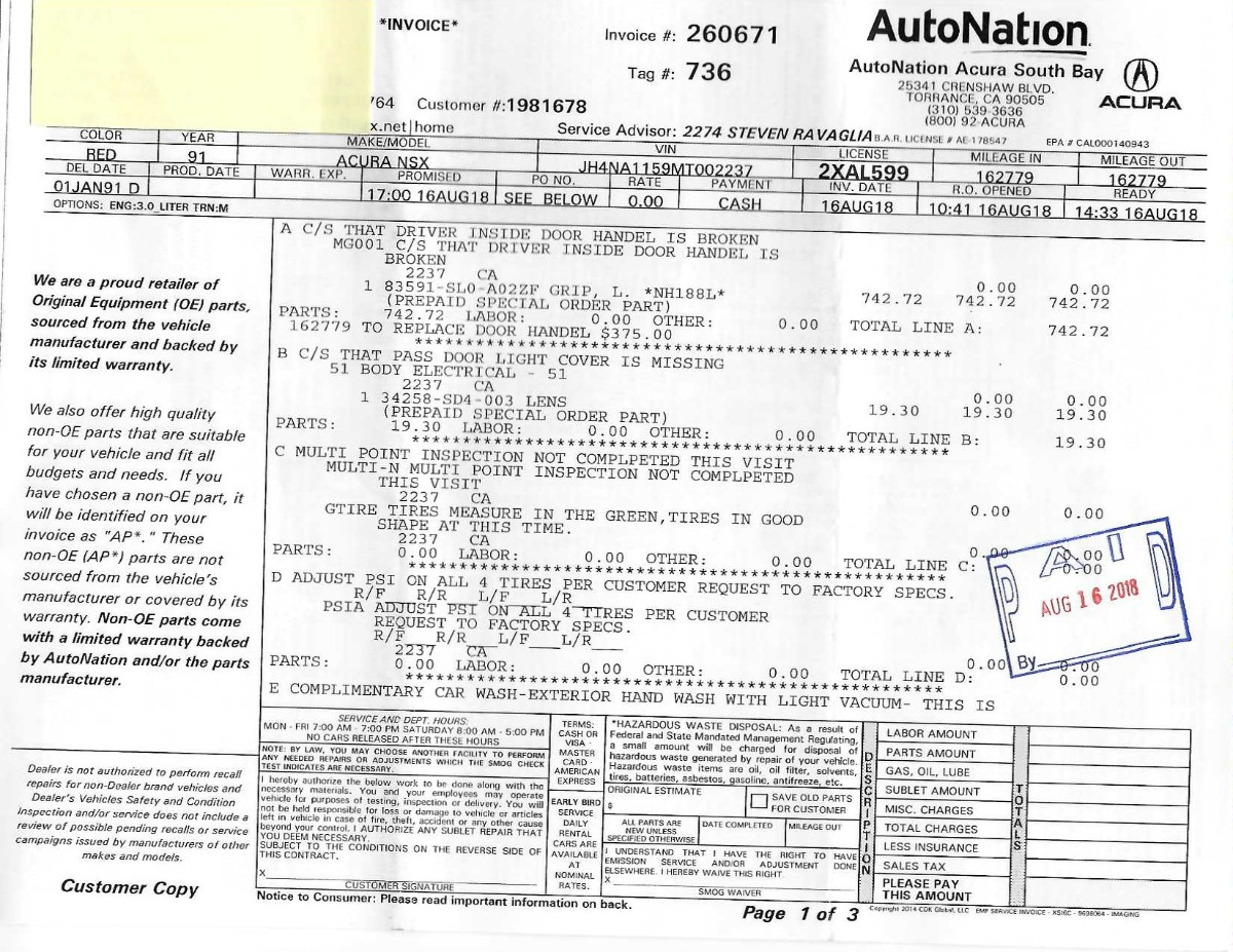 Used 1991 Acura NSX  | Los Angeles, CA