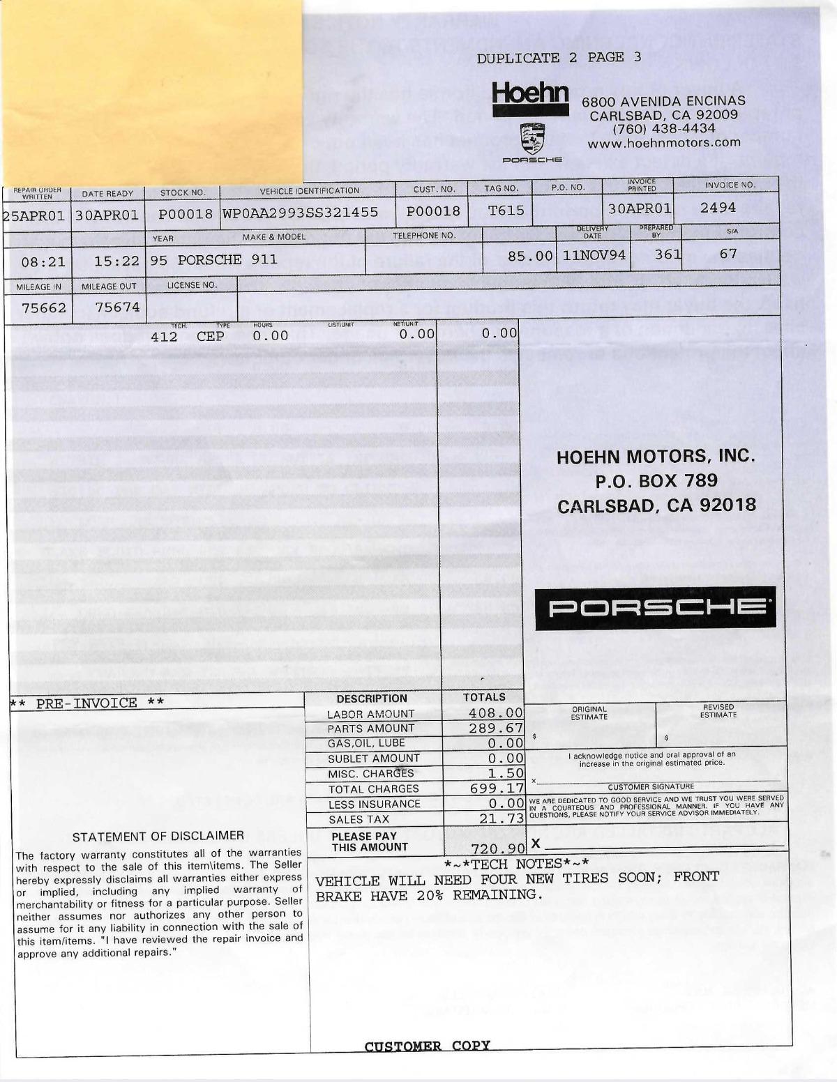 Used 1995 Porsche 993 Carrera Coupe   Los Angeles, CA