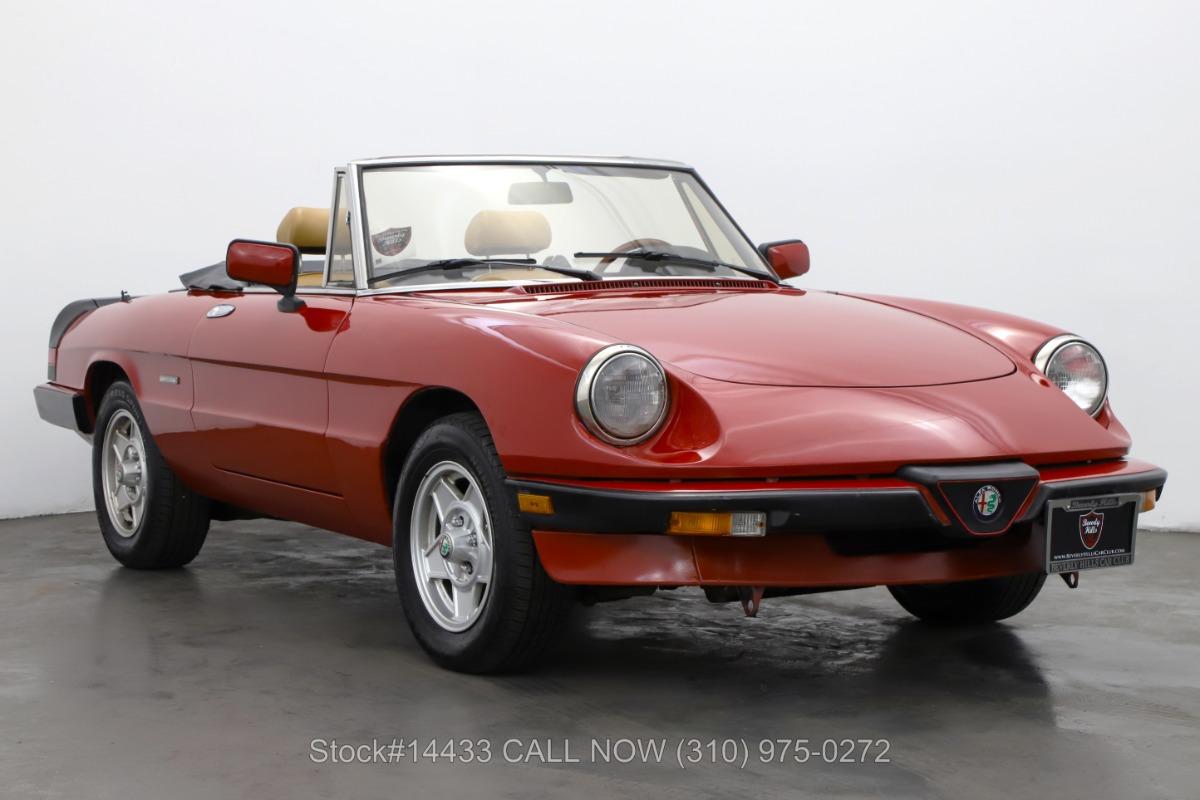 1989 Alfa Romeo Spider Graduate Convertible