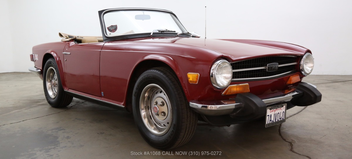 1974 Triumph Tr6 Roadster Beverly Hills Car Club