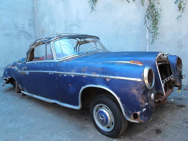 1959 mercedes benz 220s ponton cabriolet beverly hills for Mercedes benz 220s for sale