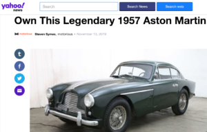 own this 1957 Aston Martin DB2/4