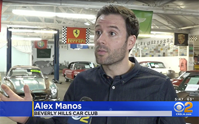 Local CBS Affiliate Interviews Alex & Discuss a 300SL