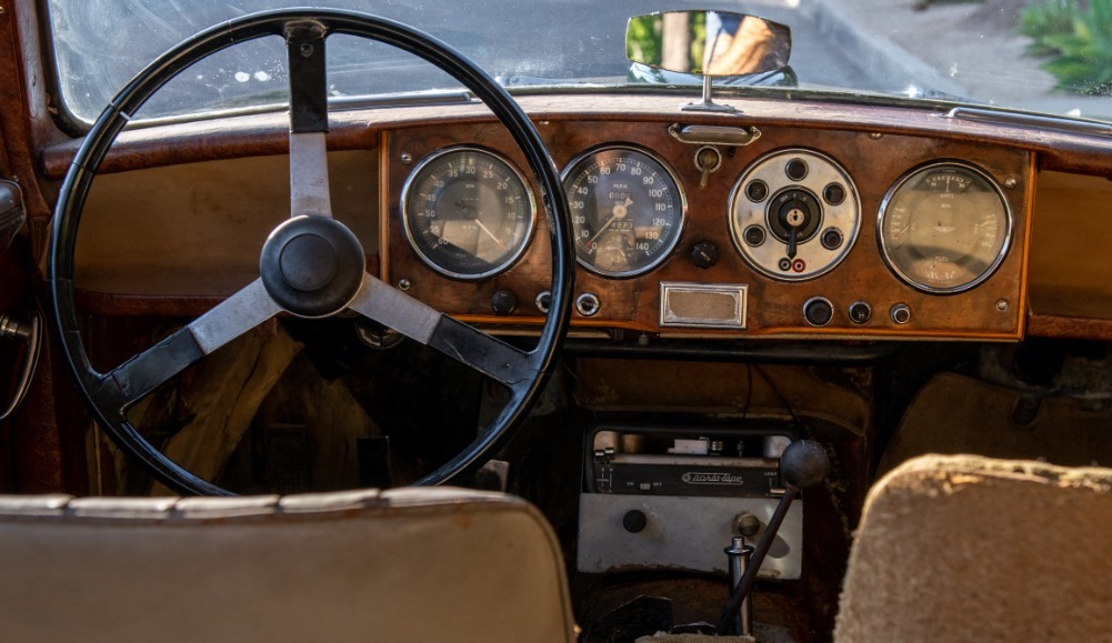 1957 Aston Martin DB2 interior
